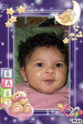 aaliyah a 2mois