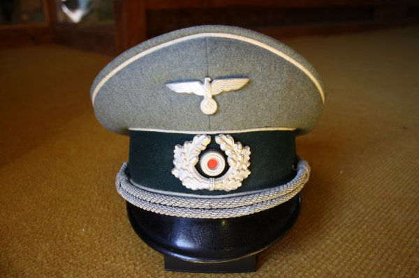 Casquette Allemande officier, d'infanterie (1921-1945)