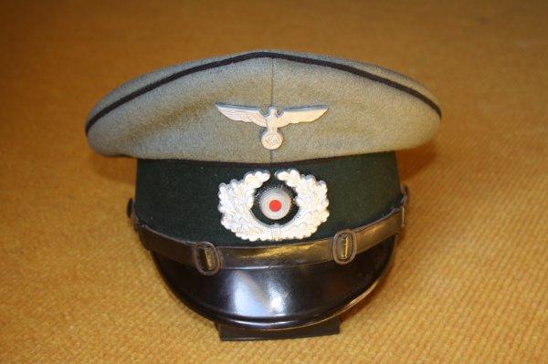 Casquette Allemande du Génie(1921-1945), formations de chemins de fer militaires1938-1945), troupes techniques(1941-1945)