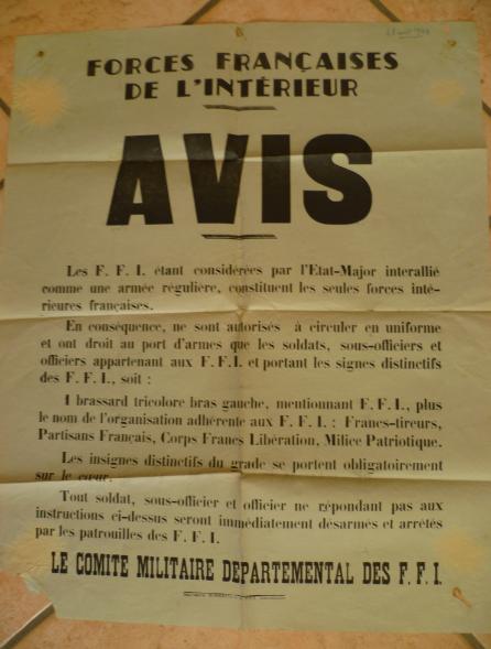 Affiche FFI 46 X 57