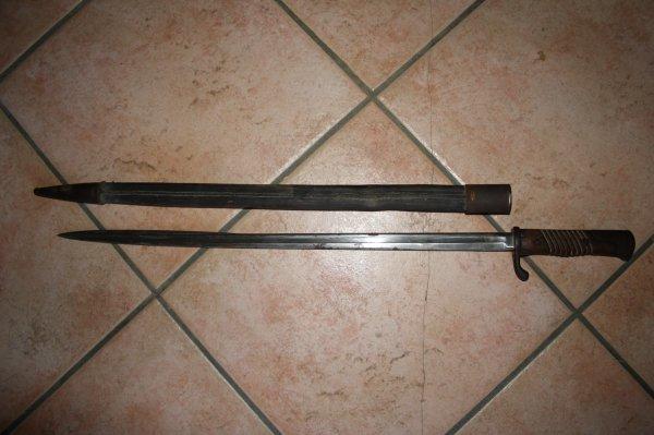 Baïonnette modèle 1898 pour fusil Mauser 98 Gewerh Allemand.