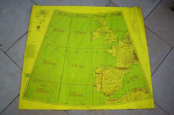 Carte Luftwaffe pour le vole de nuit.