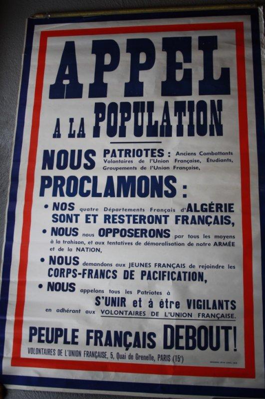 Très belle affiche sur la guerre d'Algérie