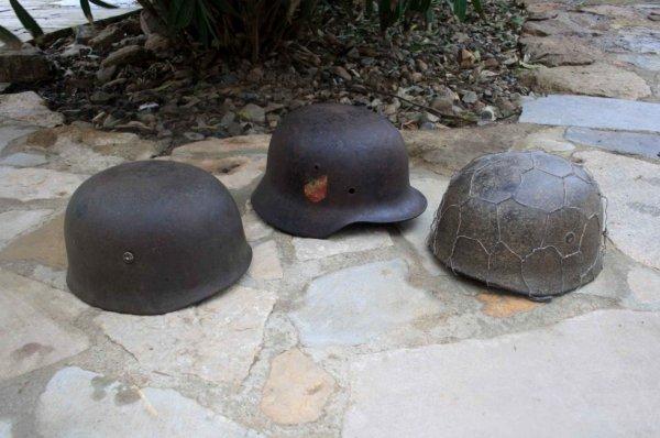 coque de casque mle 35 lw et 2 coques de casques para mat riels militaire 1418 3945. Black Bedroom Furniture Sets. Home Design Ideas