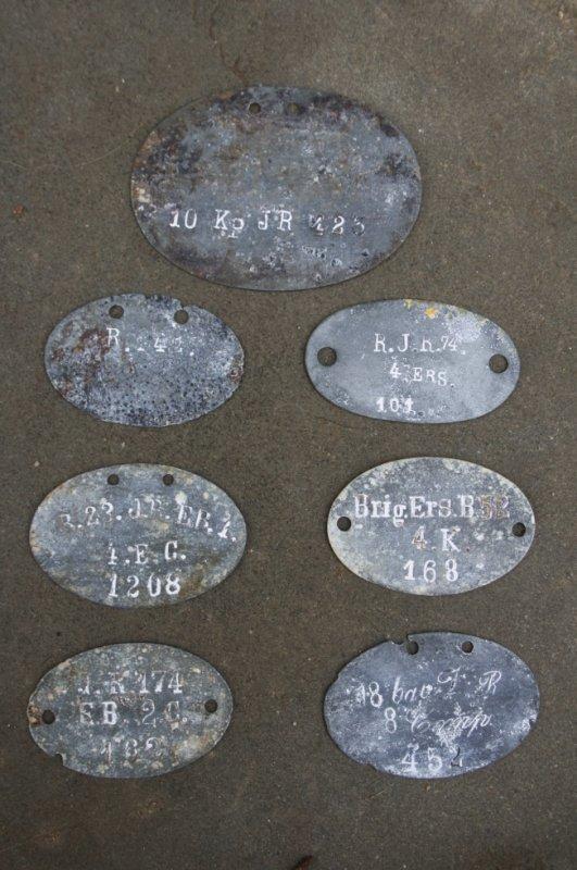 Plaques d'identitées Allemande de la 1er guerre ( Don de Yann Marchal )