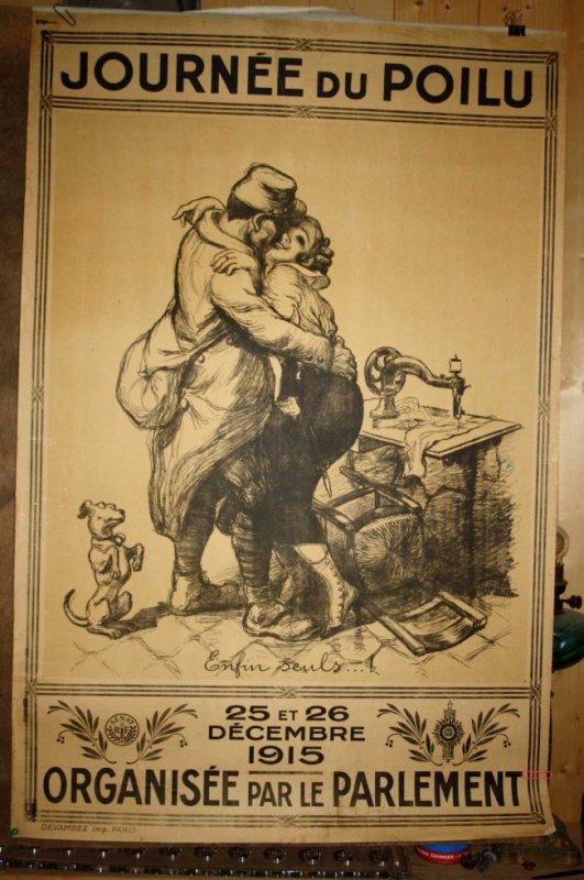 Affiche du journée du poilu WW1.