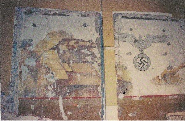 Cette fresque était peinte sur un mur de l'ancien cinéma de Trêbes, malheureusement détruite.