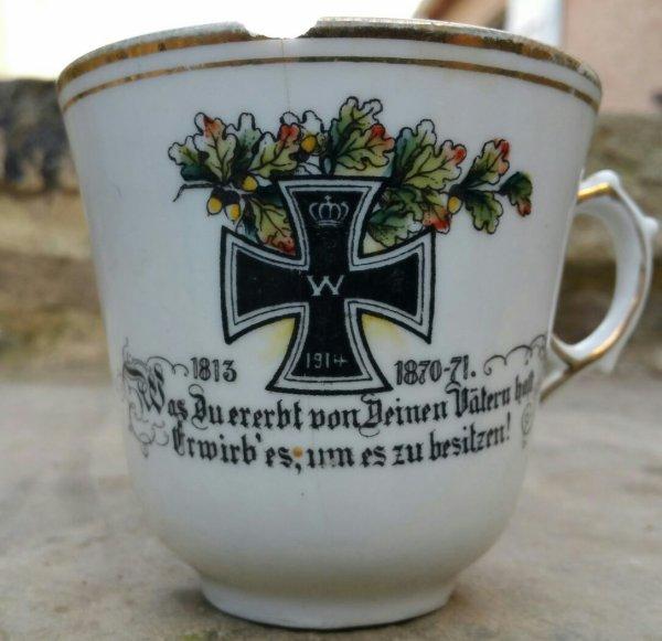 Tasse patriotique Allemande WW1.