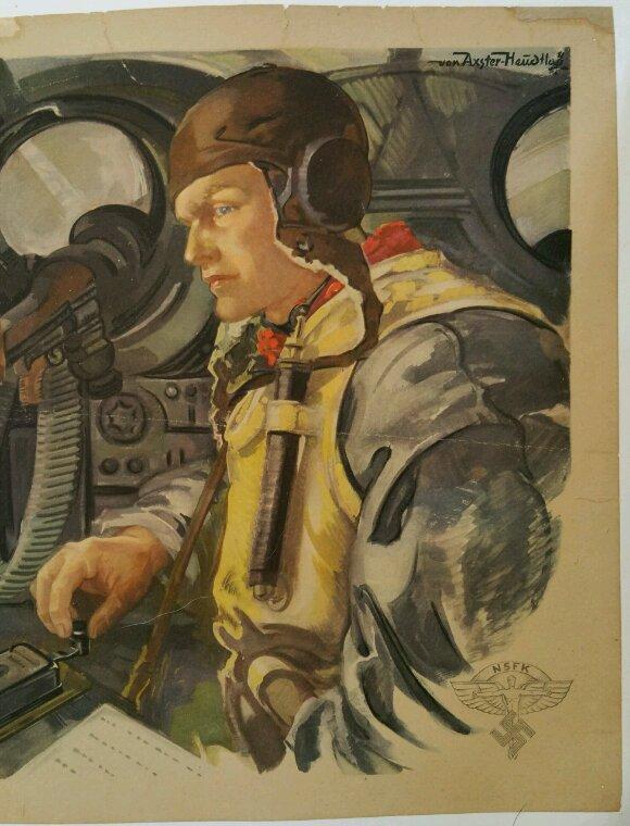 Très belle affiche Allemande  ( don de Frédéric Couzi ).