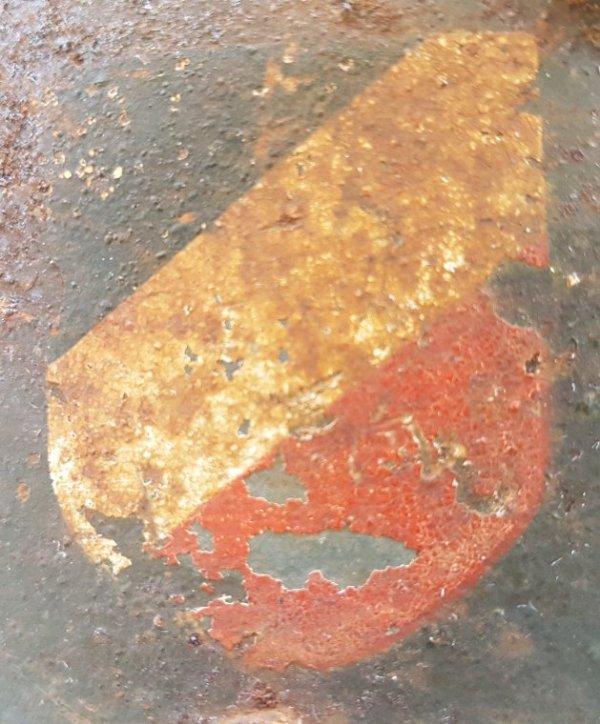 Casque Allemand mle 16, double décalque WH Sortie d'une remise secteur de La Palme  (après Narbonne direction Perpignan ).