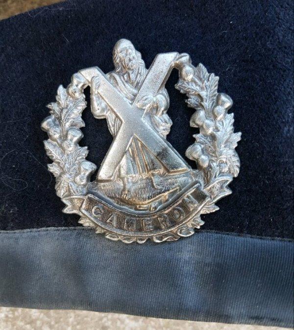 GLENGARRIE du bataillon d'active.
