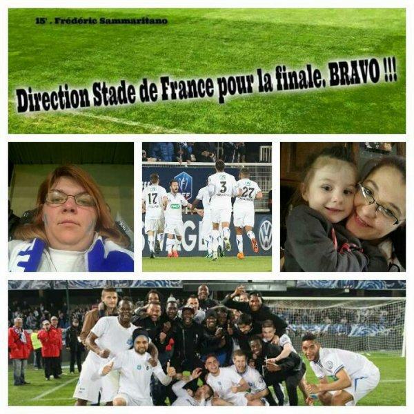 AJ Auxerre en finale au sdf heureuse