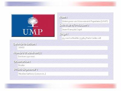 Union pour un Mouvement Populaire.