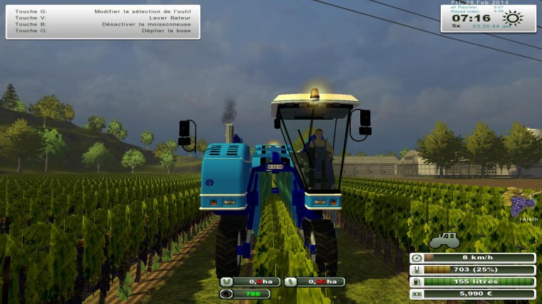 Farming Simulator 2013: BRAUD vendangeuse SB 60