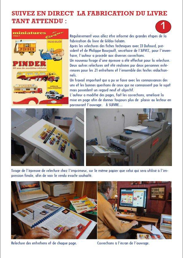 Cirque Pinder:  Suivi de fabrication du livre Miniatures du Cirque Pinder,