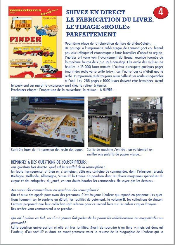 Cirque Pinder: Suivi de fabrication du livre Miniatures du Cirque Pinder, p2