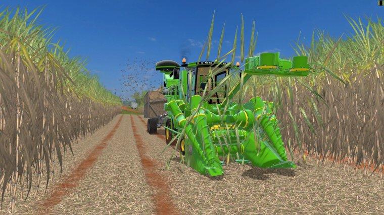 fs17     John Deere  CH570   canne à sucre, sugarcane,