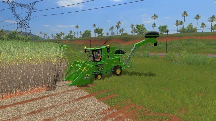 fs17    John Deere  CH570  canne à sucre, sugarcane,  partie 3