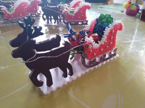 le traineau du père Noel  est  pret à partir