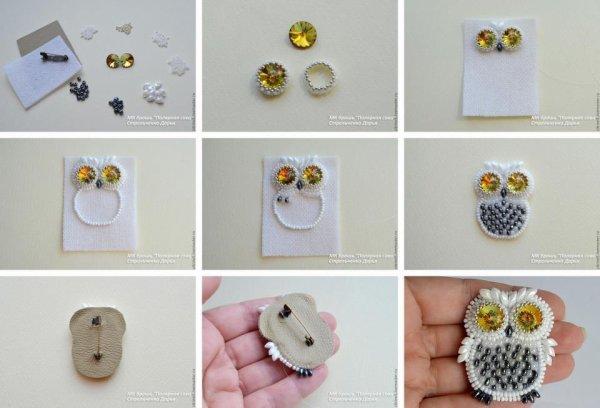 Fabriquer un petit bijoux hibou très mignon ♥