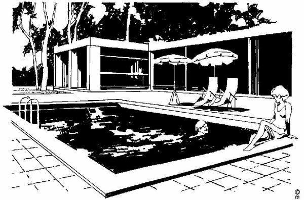 La piscine, un grand plaisir pour Jak et Jessie
