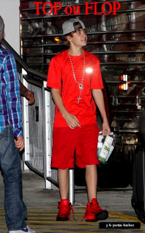 Justin rentrant de sa tournée, Miami                             TOP ou FLOP