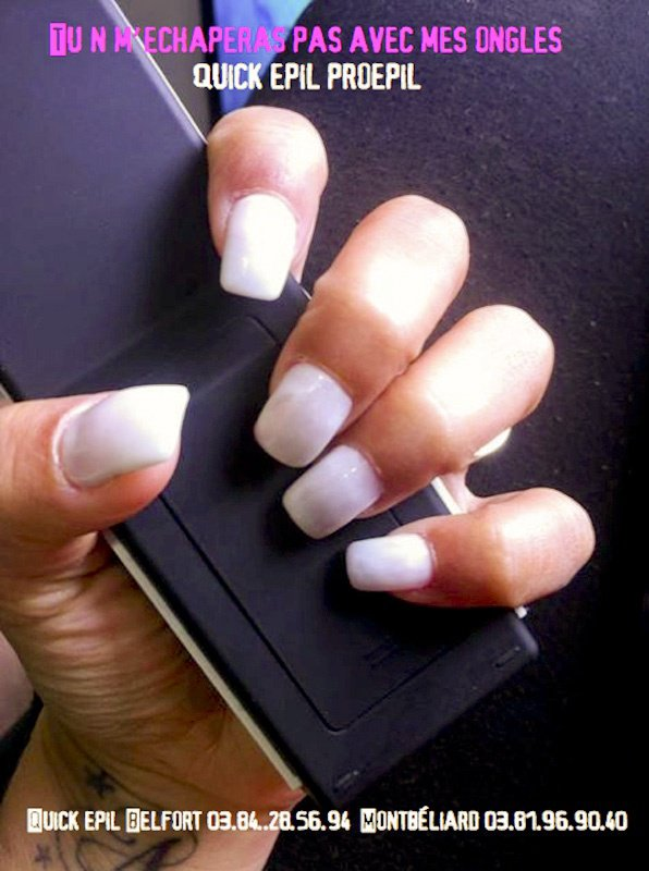 ongle french blanche quick epil proepil belfort montbeliard