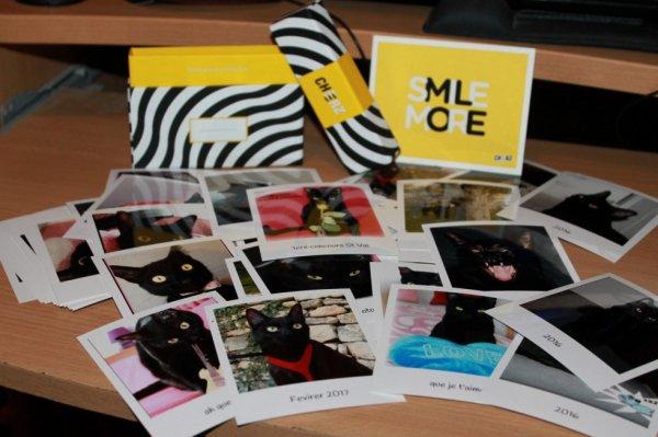 Et voici la superbe cheerz box gagnée au concours St valentin..30 photos developpées façon polaroid..