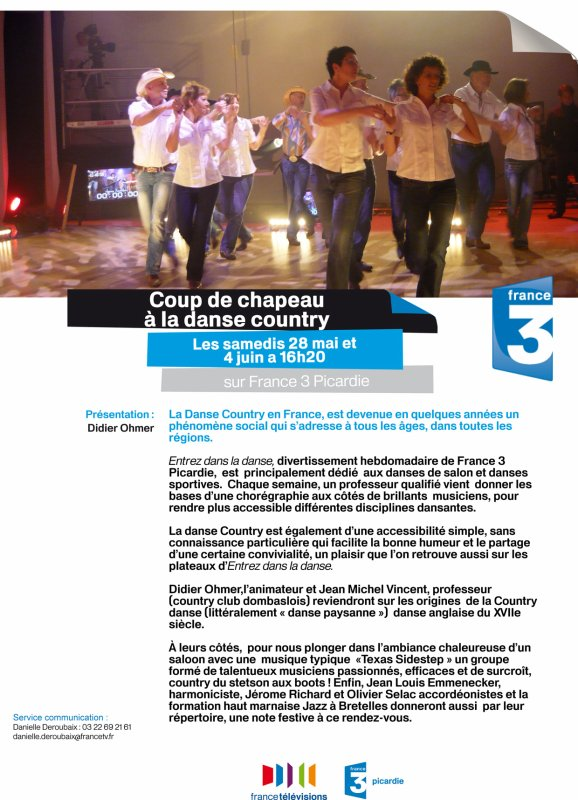 Reportage sur la country sur France 3 Picardie