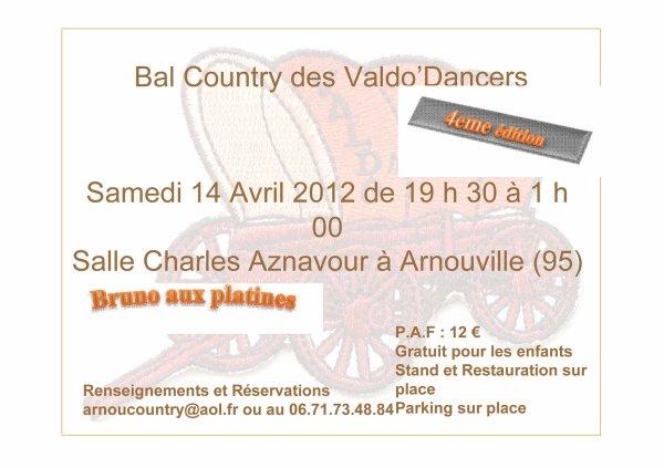 BAL COUNTRY LE SAMEDI 14 AVRIL 2012 - ARNOUVILLE (95)
