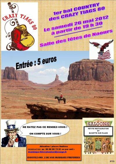 BAL COUNTRY LE SAMEDI 26 MAI 2012 - NAOURS (80)
