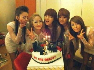 Les Wonder Girls apprécient les gâteaux des fans