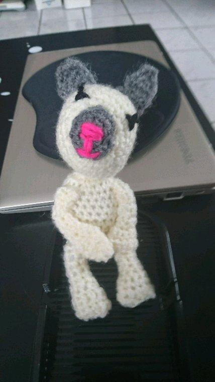 Mes doudous miniatures au crochet pour le projet technique *la pêche aux canards* de ma fille Anais