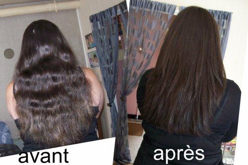 voila cheveux coupés,il était temps lol,vous avez le avant après dont la difference est très visible :)
