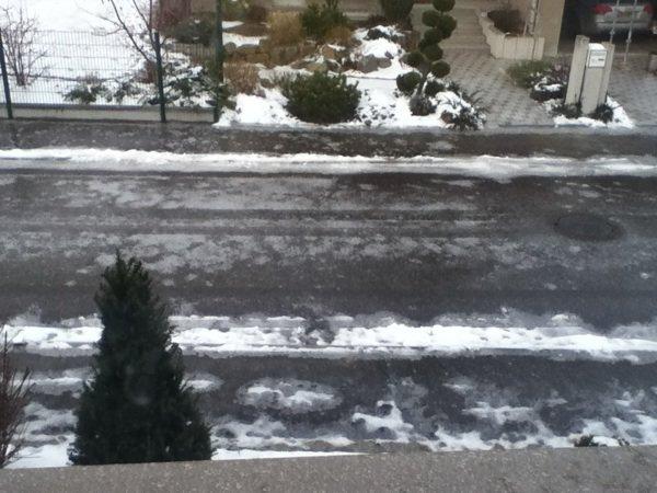 Verglas devant chez moi
