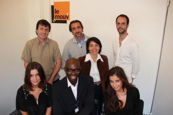 19/09/12 Malika Menard studio Mouv' Radio