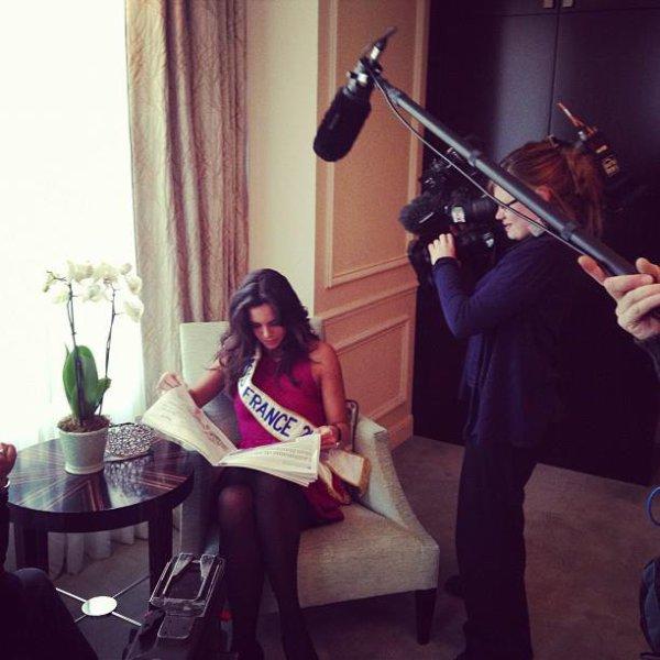 09/12/12 Marine Lorphelin premier jour en tant que Miss France