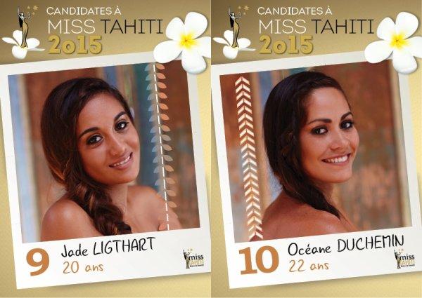 07/05/2015: CANDIDATES MISS TAHITI