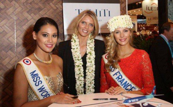 29/09/2015: Camille Cerf/Miss Réunion & Miss Tahiti