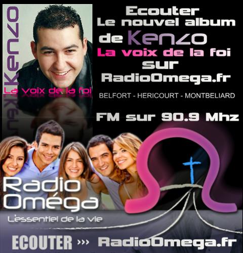 """Écouter le nouvel album de Kenzo David """"La voix de la foi"""" sur RadioOmega.fr"""