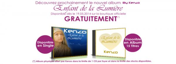 """Découvrez le prochain album de Kenzo """"Enfant de la Lumière"""" disponible dès le 19 mai 2014."""
