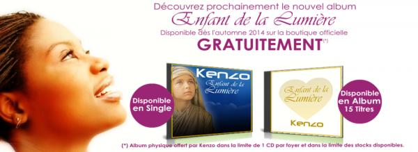 """Sortie à l'automne 2014 de mon nouvel album """"Enfant de la Lumière""""."""