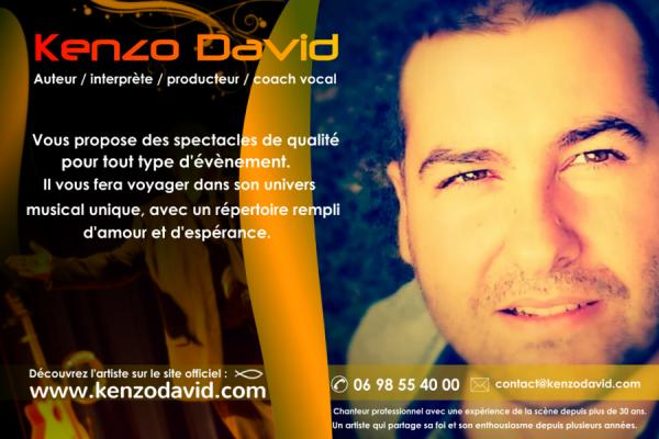 Découvrez l'artiste Kenzo David