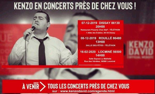 Kenzo David en concerts près de chez vous !!!