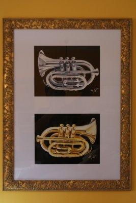 trompettes en cuivre