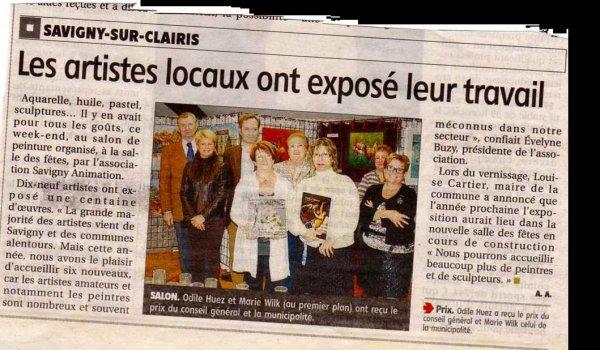 Remise du prix de la municipalité de Savigny sur Clairis
