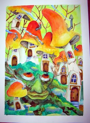 village de champignons
