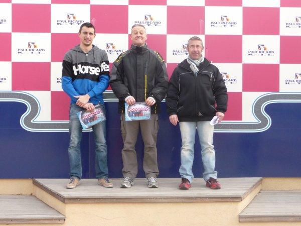 5ème Manche des 500 Miles sur le circuit du Castellet.Podium
