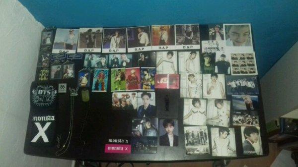 Mes photos-cartes,masque,porte-clés et colliers kpop