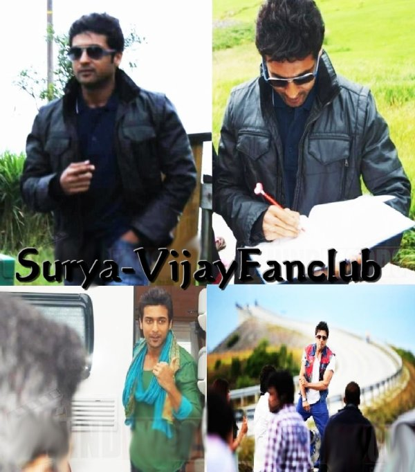 Surya at Maatraan Shooting